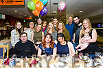 Blathin Clinton, Fenit, celebrates her 30th birthday with family and friends at the Kingdom Greyhound Stadium on Friday