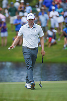Matt Fitzpatrick (ENG) sinks his par putt on 11 during round 4 of the WGC FedEx St. Jude Invitational, TPC Southwind, Memphis, Tennessee, USA. 7/28/2019.<br /> Picture Ken Murray / Golffile.ie<br /> <br /> All photo usage must carry mandatory copyright credit (© Golffile | Ken Murray)
