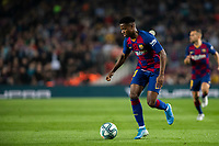 29th October 2019; Camp Nou, Barcelona, Catalonia, Spain; La Liga Football, Barcelona versus Real Valladolid; Ansu Fati breaks forward on the ball