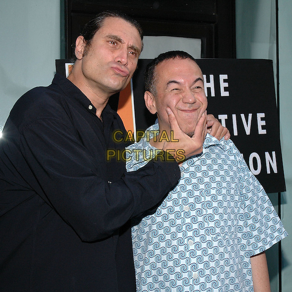 "26 July 2005 - New York, New York -  Paul Provenza and Gilbert Gottfried arrive at the premiere of their new film, ""The Aristocrats"", at The Directors Guild Theater in Manhattan.  .Photo Credit: Patti Ouderkirk/AdMedia"