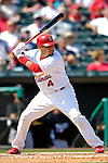 28 February 2007: St. Louis Cardinals catcher Yadier Molina at bat during a pre-season, Grapefruit League game against the Florida Marlins on Opening Day for Spring Training at Roger Dean Stadium in Jupiter, Florida. The Cardinals and Marlins share Roger Dean Stadium and the training facilities which opened in 1998 as a co-development between the Cardinals and the Montreal Expos.<br /> <br /> Mandatory Photo Credit: Ed Wolfstein Photo