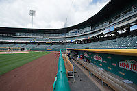 Smith's Ballpark, home of the Salt Lake Bees before the game against the Colorado Springs Sky Sox in Pacific Coast League action on May 24, 2015 in Salt Lake City, Utah.  (Stephen Smith/Four Seam Images)
