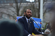 February 27, 2013  (Washington, DC)  Congressman Al Green, D-TX, speaks at voting rights rally in front of the U.S. Supreme Court. The Court heard arguments regarding the constitutionality of Section 5 of the Voting Rights Act.   (Photo by Don Baxter/Media Images International)