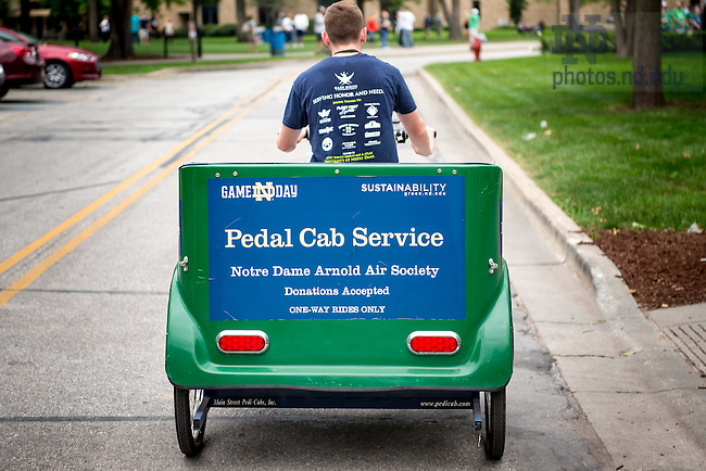 September 9, 2016; Pedal Cab (Photo by Matt Cashore/University of Notre Dame)