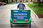 September 9, 2016; Pedal Cab (Photo by Matt Cashore/University of Notre Dame)