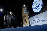 Bergamo: Mario Monti presenta la sua lista Scelta Civica con Monti al kilometro rosso di Bergamo..