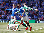 12.05.2019 Rangers v Celtic: Alfredo Morelos and Scott Brown