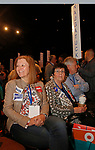 Hartford, CT-051918MK03 2018 Naugatuck delegates (from Left) Michele Russell, former mayor Joan Taf and Kevin Knowles await the results of the gubernatorial nomination at the 2018 Connecticut Democratic Convention in Hartford Saturday afternoon.  Michael Kabelka / Republican-American.