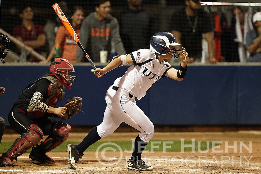SAN ANTONIO, TX - FEBRUARY 24, 2017: The University of Texas at San Antonio Roadrunners fall to the University of Incarnate Word Cardinals 5-4 in nine innings at UTSA Roadrunner Field. (Photo by Jeff Huehn)
