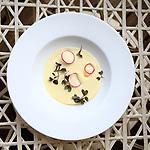 Sopa royale de puerro. One Ocean Club Barcelona