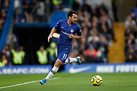30th November 2019; Stamford Bridge, London, England; English Premier League Football, Chelsea versus West Ham United; Pedro of Chelsea - Strictly Editorial Use Only. No use with unauthorized audio, video, data, fixture lists, club/league logos or 'live' services. Online in-match use limited to 120 images, no video emulation. No use in betting, games or single club/league/player publications