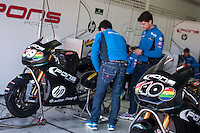 Pons Racing Team box at pre season winter test IRTA Moto3 & Moto2 at Ricardo Tormo circuit in Valencia (Spain), 11-12-13 February 2014