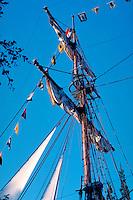 Tall Ship, Schooner, Disneyland, Ca, USA, Sailing, Southern California, Vertical