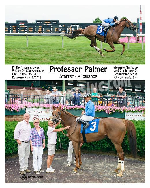 Professor Palmer winning at Delaware Park on 7/4/15
