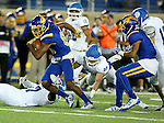 BROOKINGS, SD - SEPTEMBER 10:  Adam Anderson #80 from South Dakota State breaks loose past the Drake defense during their game at the Dana J. Dykhouse Stadium Saturday night in Brookings. (Photo by Dave Eggen/Inertia)