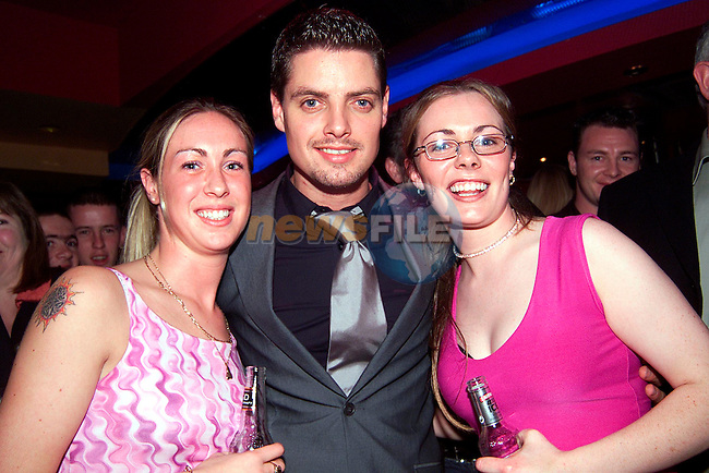 Boyzone's Keith Duffy with Julieanne Brunty, Carmelite Cottages and Jenny Gregory, Weirhope at the official opening of Storm Nightclub..Picture: Paul Mohan/Newsfile