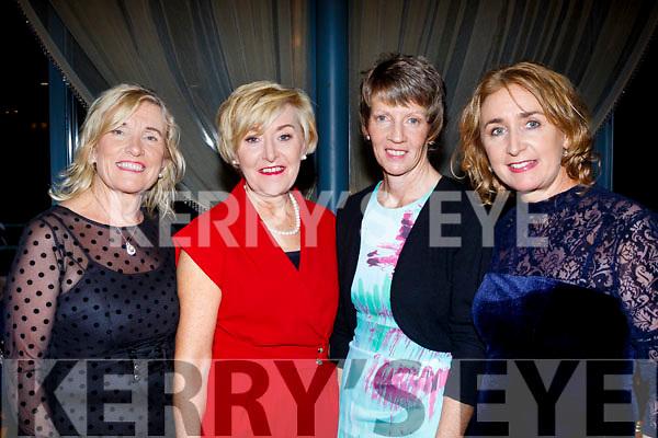 L-R Mena Nolan, Brid Murphy, Vera Tierney&Breda Rogers at the TGC captains dinner in the Ballyroe heights hotel, Tralee last Saturday.