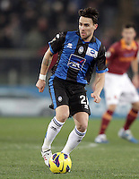 Calcio, ottavi di finale di Coppa Italia: Roma vs Atalanta. Roma, stadio Olimpico, 11 dicembre 2012..Atalanta midfielder Luca Cigarini in action during their Italy Cup last-16 tie football match between AS Roma and Atalanta at Rome's Olympic stadium, 11 december 2012. .UPDATE IMAGES PRESS/Riccardo De Luca
