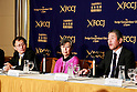 (L to R) Akira Kawasaki, Executive Committee member of the Tokyo-based NGO Peace Boat, and Ruiko Muto and Kenichi Hasegawa co-chairs of The Liaison Committee for Organizations of Victims of the Nuclear Disaster (Hidanren) speak during a press conference at the Foreign Correspondents' Club of Japan on March 1, 2016, Tokyo, Japan. Five years after the Fukushima nuclear disaster there are still over 100,000 evacuees living away from their homes and many victims feel that their needs have been neglected as the government focuses on recovery and the 2020 Olympic Games. Hidanren was created in 2015 as a network of victims with the goals of securing an apology and full compensation from power plant operator TEPCO; and also medical checks, insurance, and measures to reduce radiation exposure among residents. (Photo by Rodrigo Reyes Marin/AFLO)
