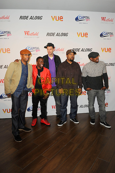 LONDON, ENGLAND - February 27: Tim Story, Kevin Hart, Tim Westwood, Ice Cube(O'Shea Jackson) and Will Packer attend the UK Premiere of 'Ride Along' at Vue Cinema, Westfield Stratford City on February 27, 2014 in London, England<br /> CAP/MAR<br /> &copy; Martin Harris/Capital Pictures