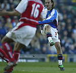 Blackburn Rovers v Arsenal - Premier League - Ewood Park Stadium - Blackburn - 15th March 2003 - Pics Simon Bellis Tugay of Blackburn Rovers