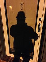 Selfie on Michelle Wildman's door, 2014