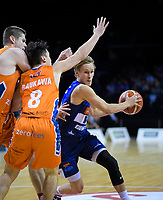 Kyle Adnam in action during the national basketball league semifinal match between Nelson Giants and Southland Sharks at TSB Bank Arena in Wellington, New Zealand on Saturday, 4 August 2018. Photo: Dave Lintott / lintottphoto.co.nz