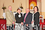GOLDEN MOMENT: Bridie and Mossy Heffernan with their son John and daughter Eileen at St Mary's Church, Tarbert on Saturday after they renewed their wedding vows on their 50th anniversary.