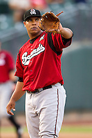 Nashville Sounds pitcher Wily Peralta #36 during the Pacific Coast League baseball game against the Round Rock Express on August 26th, 2012 at the Dell Diamond in Round Rock, Texas. The Sounds defeated the Express 11-5. (Andrew Woolley/Four Seam Images).