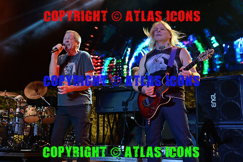 WANTAGH NY- AUGUST 26: Ian Gillan and Steve Morse of Deep Purple perform at the Jones Beach Theater on August 26, 2017 in Wantagh New York. Photo by Larry Marano © 2017