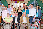 Fr Dan Casey Brosna and Sacramento, California who celebrated his Golden Jubilee with his family and friends in the River Island hotel Castleisland on Saturday front row l-r: Mary B Cronin, Fr Dan Casey, Dan Cronin, Orna Cronin. Back row: Derry O'Rourke, Ted, Mary, Julie, Aidan, Fiderlma, Dillon, Cieran and Sinead Cronin  .   Copyright Kerry's Eye 2008
