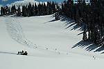 Back country snow cat powder skiing - Grand Targhee, Wyoming.