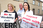 NO CUTS: Margaret O'Shea, Noel O'Neill and Joanne Thornton of the Kerry Network of People with Disabilities who are organising a protest march in Tralee against cuts proposed in the An Bord Snip Nua report.