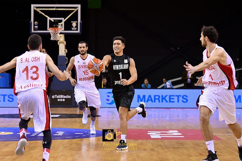 New Zealand Tall Blacks&rsquo; Reuben Te Rangi in action during the FIBA World Cup Basketball Qualifier - NZ Tall Blacks v Syria at TSB Bank Arena, Wellington, New Zealand on Sunday 2 2018. <br /> Photo by Masanori Udagawa. <br /> www.photowellington.photoshelter.com