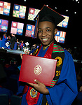 Students receive their degrees Saturday, June 10, 2017, during the DePaul University School of Music and The Theatre School commencement ceremony at the Rosemont Theatre in Rosemont, IL. (DePaul University/Jeff Carrion)