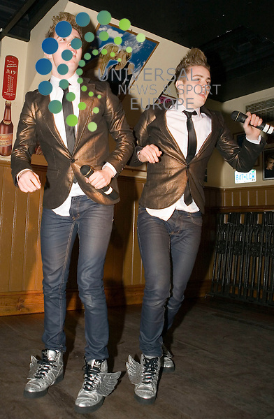 Jedward, John and Edward Grimes of X Factor fame, play at Campus in Glasgow on Sunday 30th November 2009....Picture: Peter Kaminski/Universal News and Sport (Scotland)