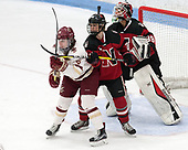 Erin Connolly (BC - 15), Heather Mottau (NU - 26), Brittany Bugalski (NU - 39) -  The Boston College Eagles defeated the Northeastern University Huskies 2-1 in overtime to win the 2017 Hockey East championship on Sunday, March 5, 2017, at Walter Brown Arena in Boston, Massachusetts.