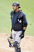 July 10, 2009:  Catcher Francisco Arcia (24) of the GCL Yankees during a game at Bright House Networks Field in Clearwater, FL.  The GCL Yankees are the Gulf Coast Rookie League affiliate of the New York Yankees.  Photo By Mike Janes/Four Seam Images