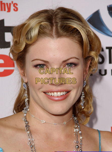 "KAM HESKIN.At The ""Dirty Love"" Premiere held at The Arclight Cinerama Dome in Hollywood,.Los Angeles, 19th September 2005.portrait headshot silver diamond earrings necklace.Ref: DVS.www.capitalpictures.com.sales@capitalpictures.com.Supplied By Capital PIctures"