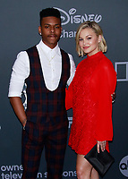 NEW YORK, NY - MAY 14: Aubrey Joseph and Olivia Holt at the Walt Disney Television 2019 Upfront at Tavern on the Green in New York City on May 14, 2019. <br /> CAP/MPI99<br /> ©MPI99/Capital Pictures