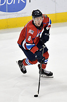 HERSHEY, PA - DECEMBER 01: Springfield Thunderbirds forward Jayce Hawryluk (8) stickhandles in the offensive zone during the Springfield Thunderbirds at Hershey Bears on December 1, 2018 at the Giant Center in Hershey, PA. (Photo by Randy Litzinger/Icon Sportswire)