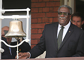7th September 2017, Lords Cricket Ground, London, England; International Test Match Series, Third Test, Day 1; England versus West Indies; Ex West Indies player Clive Lloyd rings the Lord's Five minute Bell