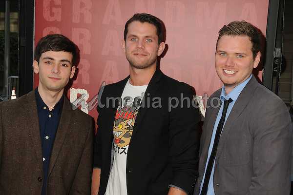 "10 June 2015 - Los Angeles, California - Stephen Scarpulla, Samuel Miron, Eamon Downey. LA Film Festival 2015 Opening Night Premiere of ""Grandma"" held at Regal Cinemas LA Live. Photo Credit: Byron Purvis/AdMedia"