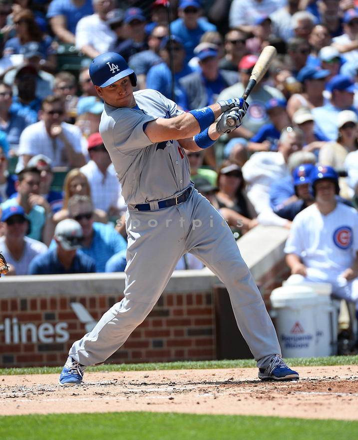 Los Angeles Dodgers AJ Ellis (17) during a game against the Chicago Cubs on June 2, 2016 at Wrigley Field in Chicago, IL. The Cubs beat the Dodgers 7-2.