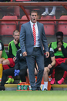 Leyton Orient Manager Ian Hendon shouts orders during the Sky Bet League 2 match between Leyton Orient and Wycombe Wanderers at the Matchroom Stadium, London, England on 19 September 2015. Photo by Andy Rowland.
