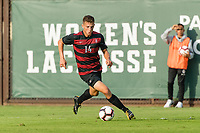 Stanford, CA - September 27, 2018: Stanford defeats the San Diego State Aztecs 3-0 in a Men's soccer game at Laird Q. Cagan Stadium.