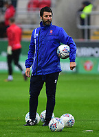 Lincoln City manager Danny Cowley during the pre-match warm-up <br /> <br /> Photographer Andrew Vaughan/CameraSport<br /> <br /> The Carabao Cup First Round - Rotherham United v Lincoln City - Tuesday 8th August 2017 - New York Stadium - Rotherham<br />  <br /> World Copyright &copy; 2017 CameraSport. All rights reserved. 43 Linden Ave. Countesthorpe. Leicester. England. LE8 5PG - Tel: +44 (0) 116 277 4147 - admin@camerasport.com - www.camerasport.com