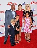 Byron Allen &amp; Jennifer Lucas &amp; Claire Holt &amp; Olivia Allen &amp; Chloe Allen &amp; Lucas Allen at the Los Angeles premiere for &quot;47 Meters Down&quot; at the Regency Village Theatre, Westwood. <br /> Los Angeles, USA 12 June  2017<br /> Picture: Paul Smith/Featureflash/SilverHub 0208 004 5359 sales@silverhubmedia.com