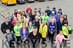 Organiser, Jimmy Dwyre, front centre, got great support for the Irish Kidney association, sponsored walk last Saturday, June 15, beginning at the petrol station in upper Camp village and ending up at the Junction bar, lower Camp for a barbaque.