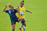 Portland, OR - Saturday, June 30, 2018: Brazil Women's U20 vs USWNT U20 at Catlin Gabel School.